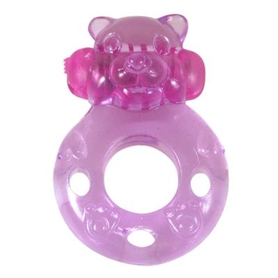 Vibrējošais dzimumlocekļa gredzens Alive Bear