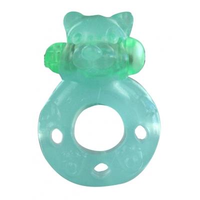 Vibrējošais dzimumlocekļa gredzens Alive Bear (zalš)
