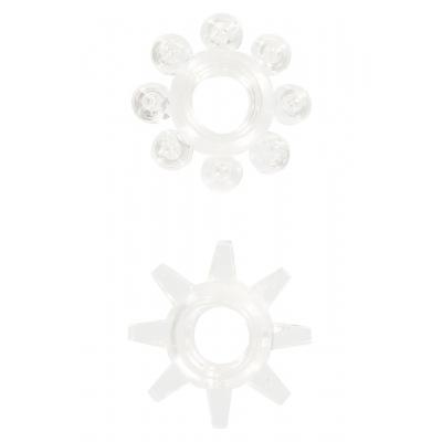 Dzimumlocekļa gredzenu komplekts Power Stretchy Rings Clear