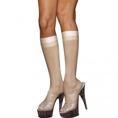 Kojinės Sheer Knee White