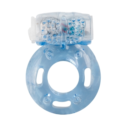 Vibrējošs dzimumlocekļa gredzens EasyToys zils