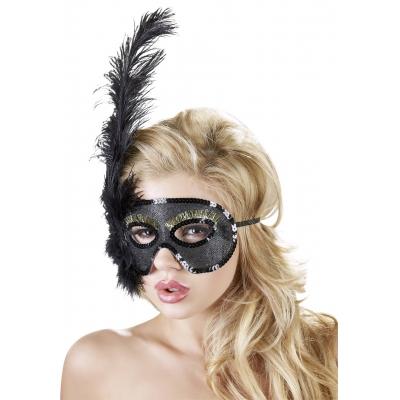 Kaukė su plunksna Feder-Maske
