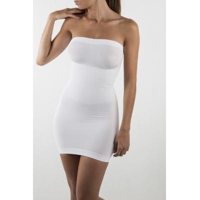 Figūrą formuojanti balta apatinė suknelė