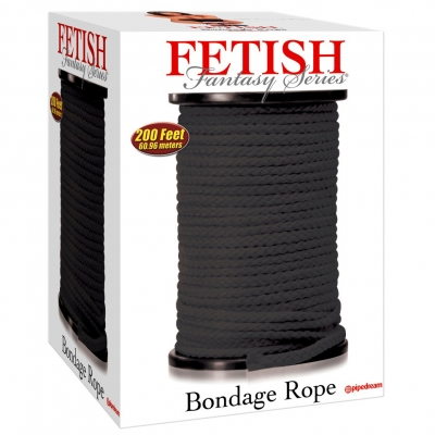 Melna fetiša virve 5m